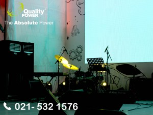 Rental AC, Genset & Cooling Fan supported by Quality Power Employee Gathering at Bank Indonesia Building Jakarta. 09 Desember 2017.
