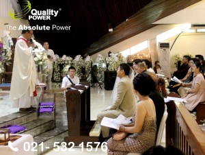 Rental AC, Genset & Cooling Fan supported by Quality Power  Happy Wedding of Marvy & Vanessa at Gereja Ignatius Jakarta. 03 Desember 2017.