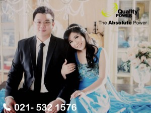 Rental AC, Genset & Cooling Fan supported by Quality Power  Happy Wedding of Anton & Marianco at Luminor Jakarta. 03 Desember 2017.
