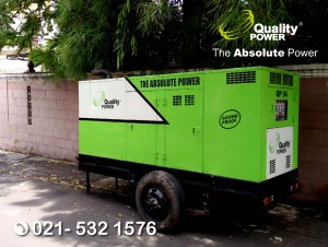 Rental AC, Genset & Cooling Fan supported by Quality Power Home Party at Purisakti bantu Road, Jakarta, 14 October 2017.