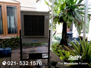 Rental AC, Genset & Cooling Fan supported by Quality TPower Home Party at Purisakti bantu Road, Jakarta, 14 October 2017.