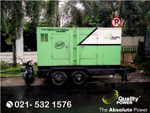 Rental AC, Genset & Misting Fan supported by Quality Power Home Party at Simprug, Jakarta, 07 July 2017.