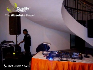 Rental AC, Genset & Misting Fan supported by Quality Power Thanksgiving at Pondok Indah Jakarta, 27 May 2017.
