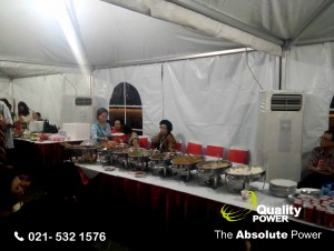 Rental AC, Genset & Sound System supported by Quality Power  Dinner Meeting of Perkumpulan Marga Wang (Ong) Indonesia at Pinisi 2 PIK Jakarta, 16 Ju