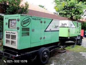 Rental AC & Genset supported by Quality Power  Engagement at Kalibata Utara Road Jakarta, 8 April 2017.