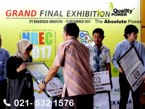 Rental AC & Genset supported by Quality Power Grand Final Exhibition at PT Rekayarsa Industry Building Jakarta. 13 December 2017.