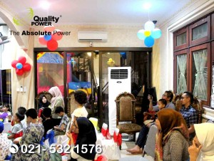 Rental AC & Genset supported by Quality Power Home Party at Fatmawati Road Jakarta, 04 June 2018