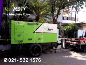 Rental AC & Genset supported by Quality Power Home Party at Lamandau Road, Jakarta, 15 October 2017.