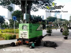 Rental AC & Genset supported by Quality Power Shooting of a advertise film at Epicentrum Utama Raya road, Jakarta, 19 January 2017.