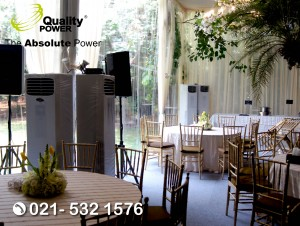 Rental AC & Genset supported by Quality Power Wedding of Indah & Bei at Kemanggisan Road Jakarta, 15 September 2017.