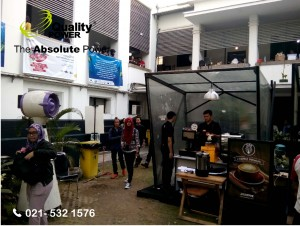 Rental AC & Misting Fab supported by Quality Power  Mandiri Coffee Party at Mandiri Museum Building Jakarta, 30 April 2017.