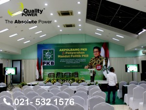 Rental AC & Sound System supported by Quality Power, AKPOLBANG PKB at DPP PKB Jakarta. 5 January 2018.