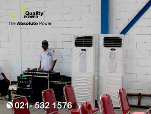 Rental AC & Sound System supported by Quality Power PT Trio Jaya Steel at Teluknaga Tangerang, 03 June 2018