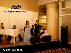 Rental AC by Quality Power Happy Wedding of Michael & Angel at Ritz Carlton Jakarta, 15 January 2017.