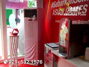 Rental AC supported by Quality Power, Asian Fest Stand Telkomsel at Stadion Gelora Bung Karno Jakarta, 18 Aug s.d. 2 Sep 2018.