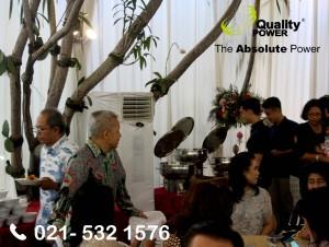 Rental AC supported by Quality Power CHRISTMAS Celebration at Mega Kuningan Barat Road, Jakarta. 25 December 2017.