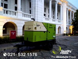 Rental Genset & Cooling Fan supported by Quality Power Wedding of Maya & Andri at Museum BI, Jakarta, 8 October 2017.