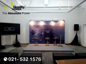 Rental Sound System supported by Quality Power BE KRAF Talk at Senayan City Jakarta, 20 June 2017.