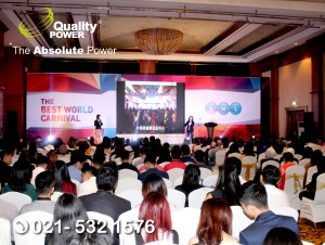 Rental Sound System supported by Quality Power BWL - The Best World Carnival at Crowne Plaza , Jakarta, 21 October 2017.