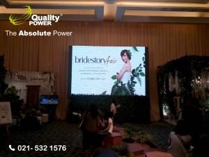 Rental Sound System supported by Quality Power Bridestory Fair at Grand Ballroom Sheraton Gandaria City Jakarta, 10 February 2017.