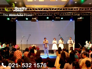 Rental Sound System supported by Quality Power CHRISTMAS CELEBRATION at Harriston Hotel Jakarta. 10 Desember 2017.