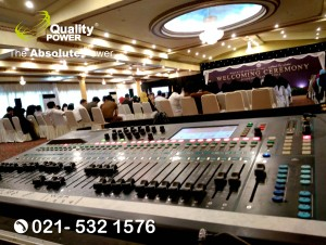 Rental Sound System supported by Quality Power Ceremony of Academic Year 2017/2018 at Palma One Buildung Jakarta, 17 July 2017.