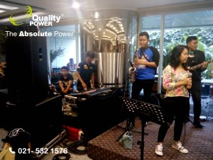 Rental Sound System supported by Quality Power Congratulations Launching Festival Tidore 2017 at Parawisata Building Jakarta, 5 April 2017.