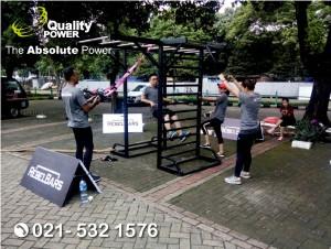 Rental Sound System supported by Quality Power Evolution Fitcam at Senayan Golf Driving Range Jakarta. 19 November 2017.