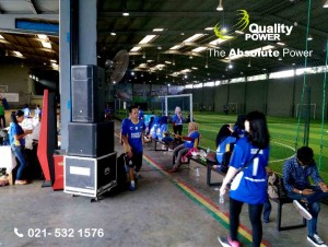 Rental Sound System supported by Quality Power, Family Gathering Asia Garment at Orion Sport Center Jakarta 7 January 2018.