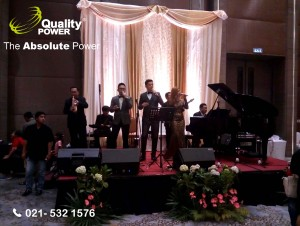 Rental Sound System supported by Quality Power Happy Wedding Awan & Maya at Novotel Hotel - Tangerang, 19 February 2017.
