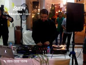 Rental Sound System supported by Quality Power Happy Wedding Denty & David at Rumah Kriya Asri Jakarta, 07 January 2017
