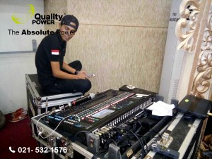 Rental Sound System supported by Quality Power  Happy Wedding Euis & Rangga at YTKI Building- Jakarta, 19 February 2017.