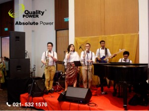 Rental Sound System supported by Quality Power Happy Wedding Handa & Jessica at Putri Duyung Ancol Jakarta, 22 January 2017.