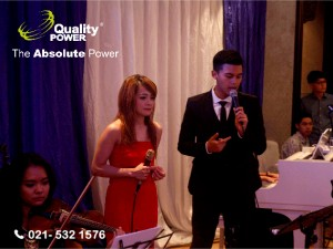 Rental Sound System supported by Quality Power Happy Wedding Raymond SE & Susanti Ang at Indonesian Room Shangri-La Hotel Jakarta, 07 January 2017