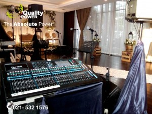 Rental Sound System supported by Quality Power Happy Wedding at Sol Marina Hotel - Serpong Tangerang,11 March 2017.