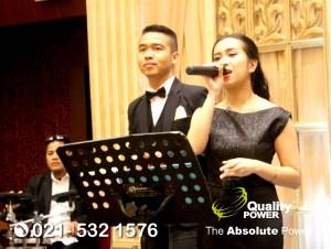 Rental Sound System supported by Quality Power Happy Wedding of Ardina Refky at Sasana Kriya TMII, Jakarta, 21 October 2017.