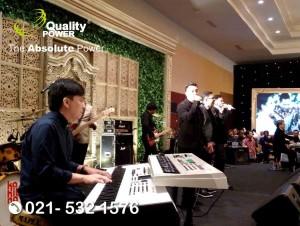 Rental Sound System supported by Quality Power, Happy Wedding of Ayu & Diaz at Sasana Kriya TMII Jakarta, 25 March 2018.