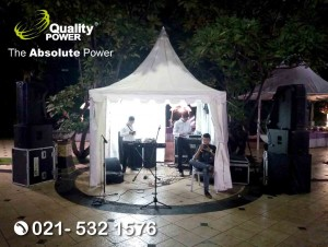Rental Sound System supported by Quality Power, Happy Wedding of Hendri & Mawar at Club House Kelapa Gading Jakarta, 25 March 2018.