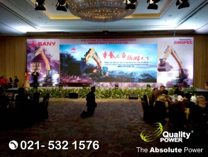 Rental Sound System supported by Quality Power Lauching SANY King of Heavy Duty at Shangri-la Jakarta, 13 September 2017.