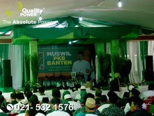 Rental Sound System supported by Quality Power Muswil PKB Banten at Pesantren Tangerang, 10 September 2017.