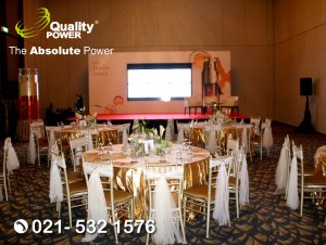 Rental Sound System supported by Quality Power Press Launch Clarins Double Serum at Sheraton Hotel, Jakarta, 03 August 2017.