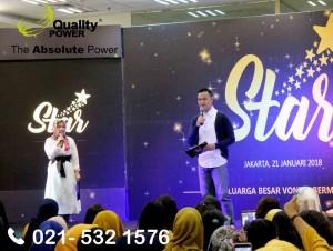 Rental Sound System supported by Quality Power, Star Keluarga Besar Vonita Bernama at Standart Chartered Building, Jakarta, 21 January 2018.