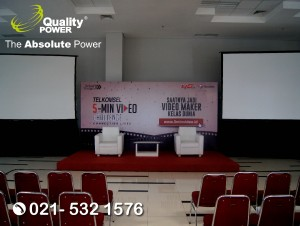 Rental Sound System supported by Quality Power Telkomsel www.5minvideo.com at Binus Alam Sutra, Tangerang 18 September 2017.