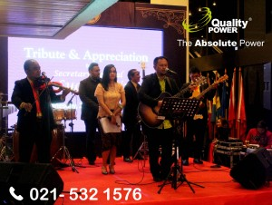 Rental Sound System supported by Quality Power Tribute & Appreciation H. E. Le Luong Minh at ASEAN Secretariat, Jakarta. 20 December 2017.