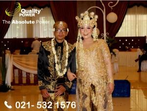Rental Sound System supported by Quality Power Wedding of A. Haryo Puja Siswono & Methamphetamine at Soekarno Hatta Hall BIN Jakarta. 02 December 2017