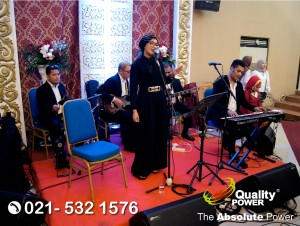 Rental Sound System supported by Quality Power Wedding of Arief & Dewi at Bhayangkari Jakarta, 29 July 2017.