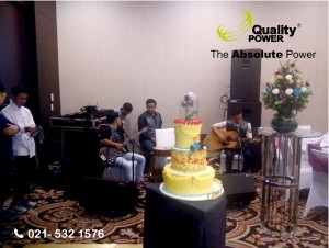 Rental Sound System supported by Quality Power  Wedding of Finky Philip & Winda at Emerald room Fairmont, Jakarta, 03 June 2017.