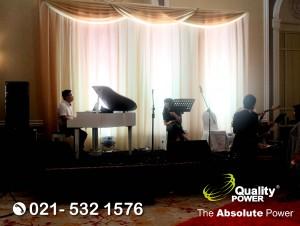 Rental Sound System supported by Quality Power Wedding of Handrata & Ferina at Ballroom Peninsula Jakarta, 05 November 2017.