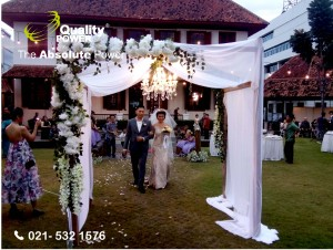 Rental Sound System supported by Quality Power  Wedding of Handy & Ovi at Gajahmada Archives Building Jakarta, 30 April 2017.