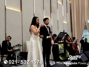 Rental Sound System supported by Quality Power, Wedding of Hizkia Irwanto & Eva Suwendy at Westin Hotel Jakarta, 07 July 2018